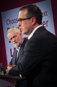 Hustings meeting for the 2016 labour leadership election between Jeremy Corbyn and Owen Smith, Hilton Hotel, Gateshead - Mark Pinder - 2010s,2016,campaign,campaigning,CAMPAIGNS,candidate,candidates,debate,debating,Gateshead,Hotel,HOTELS,Husting,Hustings,Jeremy Corbyn,Labour Party,leadership,Left,left wing,Leftwing,male,man,meeting,ME
