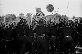 Riot police baton charge Anti Nazi protest against the BNP HQ in Welling, Kent - Paul Mattsson - 16-10-1993