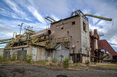 Yakima, Washington, USA Derelict old Boise Cascade plywood mill, closed in 2006. The original mill complex started in 1903 - David Bacon - 08-07-2016