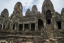 Cambodia Bayon Temple, Prasat Angkor Thom - David Bacon - 2010s,2015,ACE,Angkor Thom,Angkor Wat,architecture,Arts,Asia,asian,asians,Bayon,buddha,Buddhism,buddhist,buddhists,buildings,Cambodia,Cambodian,Cambodians,carved,carving,carvings,Culture,Hindu,hinduis