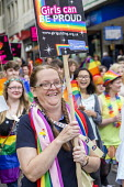 Pride Day Parade, Bristol, Girlguiding - Paul Box - 2010s,2016,ACE,cities,city,Culture,EMOTION,EMOTIONAL,EMOTIONS,equal,FEMALE,Gay,Gays,girl guides,Girlguide,Girlguiding,happiness,happy,Homosexual,HOMOSEXUALITY,Homosexuals,Leisure,lesbian,lesbians,LFL,