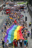 Pride Day Parade, Bristol - Paul Box - 2010s,2016,ACE,banner,banners,cities,city,color,colorful,colorfull,colors,colour,colourful,colours,Culture,equal,FEMALE,Gay,Gays,Homosexual,HOMOSEXUALITY,Homosexuals,Leisure,lesbian,lesbians,LFL,LGBT,