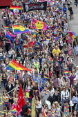Pride Day Parade, Bristol - Paul Box - smiley faces,2010s,2016,ACE,cities,city,color,colorful,colorfull,colors,colour,colourful,colours,Culture,equal,FEMALE,flag,flags,Gay,Gays,Homosexual,HOMOSEXUALITY,Homosexuals,Leisure,lesbian,lesbians,
