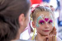 Pride Day Festival, Bristol. Children face painting - Paul Box - 09-07-2016