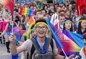 Pride Day Parade, Bristol - Paul Box - 2010s,2016,ACE,cities,city,color,colorful,colorfull,colors,colour,colourful,colours,Culture,EMOTION,EMOTIONAL,EMOTIONS,equal,flag,flags,Gay,Gays,happiness,happy,Homosexual,HOMOSEXUALITY,Homosexuals,Le
