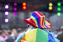 Pride Day Festival, Bristol - Paul Box - 2010s,2016,cities,city,color,colorful,colorfull,colors,colour,colourful,colours,equal,Festival,FESTIVALS,Gay,Gays,hat,hats,Homosexual,HOMOSEXUALITY,Homosexuals,Leisure,LFL,LGBT,LIFE,MINORITIES,MINORIT