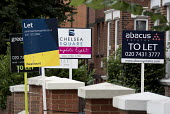 Estate agent boards, Cricklewood, London - Philip Wolmuth - 03-08-2016