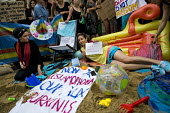 Burkini ban wear what you want beach party protest outside the French Embassy, Knightsbridge, London. - Jess Hurd - 25-08-2016