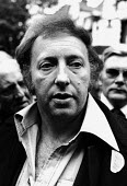 Grunwick 1977: Arthur Scargill and Yorkshire NUM members join mass picket. Asian women on strike against low pay and for union recognition at the Grunwick film processing plant in Willesden, Brent, Lo... - David Mansell - 1970s,1977,against,APEX,Asian,asian asians,BAME,BAMEs,black,black and white,bme,bmes,cities,City,CLJ,confront,confrontation,confronted,confronting,cultural,de recognition,derecognition,dismissal,dispu
