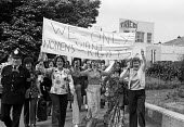 Women at TRICO on strike for Equal Pay protest Brentford, London, 1976 - Chris Davies - 1970s,1976,activist,activists,against,at,AUEW,banner,banners,campaign,campaigner,campaigners,campaigning,CAMPAIGNS,DEMONSTRATING,Demonstration,DEMONSTRATIONS,disputes,Equal Pay,Equal Rights,equality,f