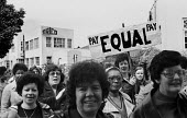 Women at TRICO on strike for Equal Pay protest Brentford, London, 1976 - Chris Davies - 1970s,1976,activist,activists,against,at,AUEW,BAME,BAMEs,black,BME,bmes,campaign,campaigner,campaigners,campaigning,CAMPAIGNS,DEMONSTRATING,Demonstration,DEMONSTRATIONS,disputes,diversity,Equal Pay,Eq