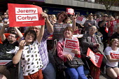 Jeremy Corbyn leadership election rally, Hanley, Stoke on Trent - John Harris - 2010s,2016,bound,campaign,campaigning,CAMPAIGNS,cities,City,disabilities,disability,disable,disabled,disablement,FEMALE,incapacity,Labour Party,Left,left wing,Leftwing,minorities,mobility,Momentum,nee