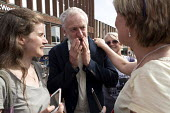 An emotional moment. Jeremy Corbyn leadership election rally, Hanley, Stoke on Trent - John Harris - 01-09-2016