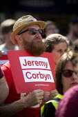 Jeremy Corbyn leadership election rally, Hanley, Stoke on Trent - John Harris - 2010s,2016,campaign,campaigning,CAMPAIGNS,cities,City,FEMALE,Labour Party,Left,left wing,Leftwing,Momentum,people,person,persons,placard,placards,POL,political,POLITICIAN,POLITICIANS,Politics,rallies,