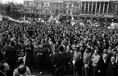 Rally in Trafalgar Square, London 1960 launching The Boycott Movement Month of Action to Boycott South Africa and the Apartheid regime. - Alan Vines - 1960,1960s,AAM,activist,activists,against,Anti Apartheid Movement,apartheid,BAME,BAMEs,bigotry,black,BME,bmes,boycott,boycotting,campaign,campaigner,campaigners,campaigning,CAMPAIGNS,crowd,DEMONSTRATI
