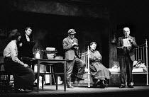 Shadow Of A Gunman written by Sean O'Casey, Mermaid Theatre, London, 1967. L to R: Shivaun O'Casey, daughter of the playwright Sean O'Casey, as Minnie Powell, Brian Phelan as Donal Davoren, Stephen Re... - Patrick Eagar - 06-04-1967
