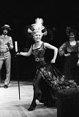 Lead actress Barbara Windsor as Marie Lloyd, Sing A Rude Song at The Greenwich Theatre, 1970. A play based on the life of Marie Lloyd, written by Ned Sherrin and Caryl Brahms. - Patrick Eagar - 1970,1970s,ACE,act,acting,actor,actors,actress,actresses,Arts,Barbara Windsor,cities,city,Culture,drama,DRAMATIC,entertainment,FEMALE,Marie Lloyd,people,person,persons,play,PLAYING,plays,Sing A Rude S