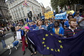 Peter Tatchell and Eddie Izzard lead March for Europe against the Brexit EU referendum result, Central London. - Jess Hurd - 03-09-2016