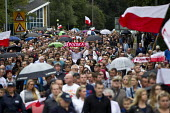 Hundreds marching silently to remember murdered Polish man Arek Jozwik, Harlow UK - Jess Hurd - 03-09-2016
