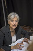 Detroit, Michigan USA Green Party presidential candidate Jill Stein responding to a questions at a press conference. - Jim West - 03-09-2016