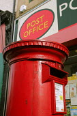A traditional red postbox outside a Post Office, North Shields. 1/11 2004 - Mark Pinder - 2000s,2004,box boxes,EBF economy business & finance,Letter box,Letter boxes,letter letters,Letterbox,Letterboxes,MAIL,outside,pillar box,POST,post box,postal,postbox,public,public services,royal mail,