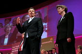 Tony Blair and Ruth Kelly. 2005 Labour Party Spring Conference, The Sage, Gateshead On Tyne. 11/2 2005. - Mark Pinder - 11-02-2005