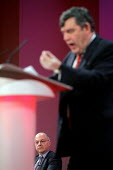 2005 Labour Party Spring Conference, The Sage, Gateshead On Tyne. 12/2 2005 Chancellor Gordon Brown. - Mark Pinder - 12-02-2005