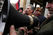 Georgian supporters of Joseph Stalin congregate on the 21st of December every year to commemorate the late dictators birthday in Stalins home town of Gori about 50 miles west of the Georgian capital T... - Mark Pinder - 21-12-2005