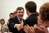 'Unions Together' Labour leadership and deputy leadership hustings meeting, Centre For Life, Newcastle Upon Tyne, 3/6 2007. Gordon Brown presses the flesh. - Mark Pinder - 03-06-2007