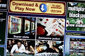 The online gambling site of PartyCasino.com part of PartyGaming.com the internet gambling company that lost many millions of dollars in value when the US Government banned online gaming from foreign c... - Mark Pinder - 2000s,2006,banned,bet,bets,betting,casino,communicating,communication,company,COMPUTE,computer,computers,COMPUTING,foreign,foreigner,foreigners,gambler,gamblers,gambling,game,games,gaming,Government,i