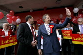 2007 Sedgefield by-election.Former PM Tony Blair lends his support to Phil Wilson who has been chosen to defend the Sedgefield constituency for Labour. Labour campaign HQ, Newton Aycliffe Co Durham, 4... - Mark Pinder - 2000s,2007,County Durham,labour party,Minister,POL politics