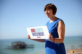 Frances O'Grady, Jobs, Rights, Investment placard, TUC conference Brighton - Jess Hurd - 11-09-2016