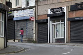 Closed shops, Shirebrook, Derbyshire - John Harris - 2010s,2016,closed,closed down,closing,closure,closures,communities,community,deindustrialisation,deindustrialization,derelict,DERELICTION,FEMALE,HAIR,Hair styling,Hair stylist,Hair stylists,HAIRCUT,HA