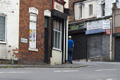 Closed shops, Shirebrook, Derbyshire - John Harris - 2010s,2016,adult,adults,age,ageing population,closed,closed down,closing,closure,closures,communities,community,deindustrialisation,deindustrialization,derelict,DERELICTION,elderly,excluded,exclusion,