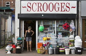 Scrooges hardware shop, Shirebrook, Derbyshire - John Harris - 2010s,2016,FEMALE,hardware,keepers,outlet,outlets,people,person,persons,Pit Village,retail,RETAILER,RETAILERS,RETAILING,scene,scenes,SERVICE,SERVICES,Shirebrook,shop,shop keeper,shopkeeper,shopkeepers