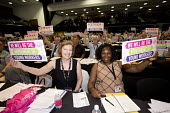 Sharon Holder GMB delegates support Young Workers, TUC conference Brighton. - Jess Hurd - 12-09-2016
