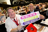 Tony Burke and Steve Turner AGS Unite supporting Young Workers, TUC conference Brighton - Jess Hurd - 12-09-2016