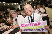 Tim Roache GMB supporting Young Workers at TUC conference Brighton. - Jess Hurd - 12-09-2016