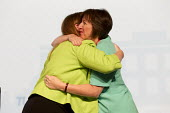 Frances O'Grady and Angela Rayner MP speaking TUC conference Brighton. - Jess Hurd - 2010s,2016,Angela Rayner,Conference,conferences,Congress,EMBRACE,EMBRACING,FEMALE,Frances O'Grady,hug,hugging,hugs,Labour Party,member,member members,members,MP,MPs,people,person,persons,POL,political
