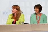 Frances O'Grady and Angela Rayner MP speaking TUC conference Brighton. - Jess Hurd - 2010s,2016,Angela Rayner,Conference,conferences,Congress,FEMALE,Frances O'Grady,Labour Party,member,member members,members,MP,MPs,people,person,persons,POL,political,politician,politicians,Politics,SP