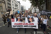 Care 4 Calais join Refugees Are Welcome Here National Demonstration, Central London. - Jess Hurd - 17-09-2016