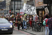 Protest against the closure and property redevelopment of Passing Clouds, a community music venue, Dalston, East London. - Jess Hurd - 17-09-2016
