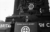 Neo-Nazi Colin Jordan speaking to National Socialist Movement fascist rally, Trafalgar Square 1962, leading to a riot after 'Free Britain From Jewish Control' speeches were heard by anti-fascist prote... - Alan Vines - 1960s,1962,activist,activists,against,Anti Fascist,Anti Racism,anti racist,anti semitic,Anti Semitism,anti-fascist,antisemitic,Antisemitism,bigotry,CAMPAIGN,campaigner,campaigners,CAMPAIGNING,CAMPAIGN