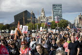 Ken Loach speaking, march to save the Womens Hospital from closure, Labour Party conference Liverpool. - Jess Hurd - 25-09-2016
