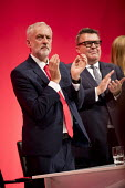 Jeremy Corbyn and Tom Watson during a tribute to Jo Cox, Labour Party conference Liverpool. - Jess Hurd - 25-09-2016