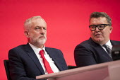 Jeremy Corbyn and Tom Watson, Labour Party conference Liverpool. - Jess Hurd - 25-09-2016