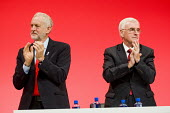 Jeremy Corbyn and John McDonnell Labour Party conference Liverpool. - Jess Hurd - 2010s,2016,applauding,applause,conference,conferences,Jeremy Corbyn,John McDonnell,Labour Party,Labour Party conference,Liverpool,male,man,men,MP,MPs,Party,people,person,persons,POL,political,politici