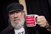 Ricky Tomlinson on his 77th Birthday, Haldane Society fringe meeting, Labour Party Conference, on The State and Political Policing. I am a threat to national security Mug - Jess Hurd - 26-09-2016