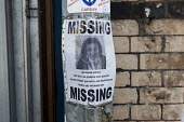 Missing person sign tied to a lampost. Cardiff, South Wales - Connor Matheson - 31-07-2016