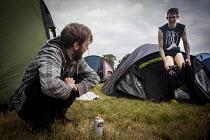 Music fans camping at the ArcTanGen Music Festival. Bristol - Connor Matheson - 20-08-2016